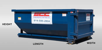 dumpster dimensions for Yonkers dumpster rentals